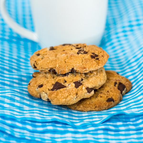 Cioccolato chip cookies tovagliolo alimentare torta Foto d'archivio © ilolab