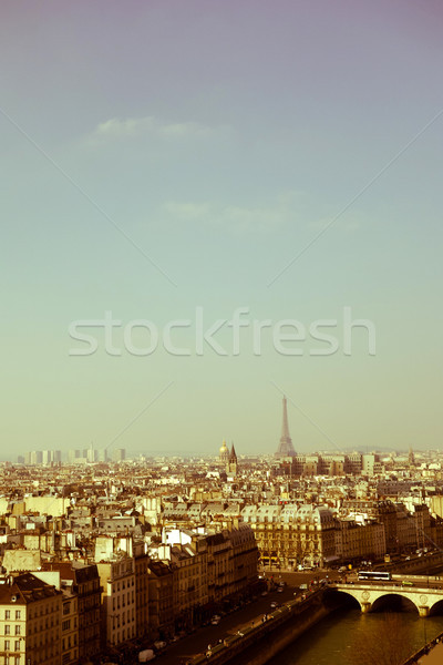 Retro tarzı Paris Fransa uzay metin görüntü Stok fotoğraf © ilolab