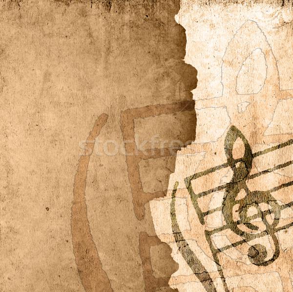 Grunge melodia brązowy tekstury środowisk przestrzeni Zdjęcia stock © ilolab