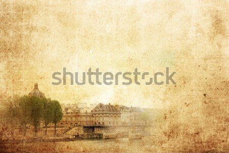 Paris França livro folha fundo papel de parede Foto stock © ilolab