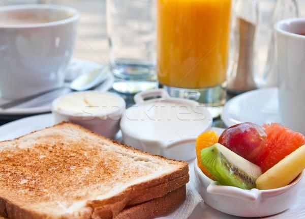 Breakfast with orange juice Stock photo © ilolab
