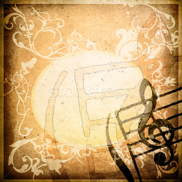 Grunge melodía marrón texturas fondos espacio Foto stock © ilolab