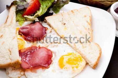 Сток-фото: подготовленный · яйцо · солнце · продовольствие · кофе · пластина