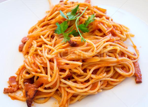 итальянский мяса соус пасты таблице вкусный Сток-фото © ilolab