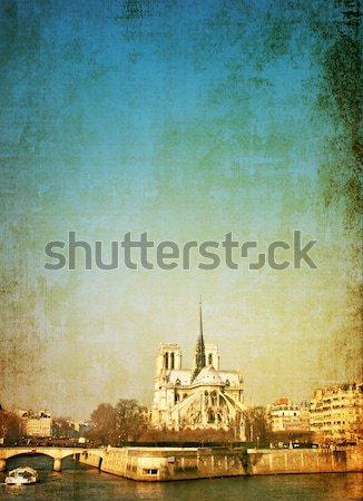красивой парижский улиц пространстве текста изображение Сток-фото © ilolab