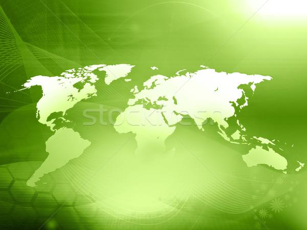 world map technology style Stock photo © ilolab