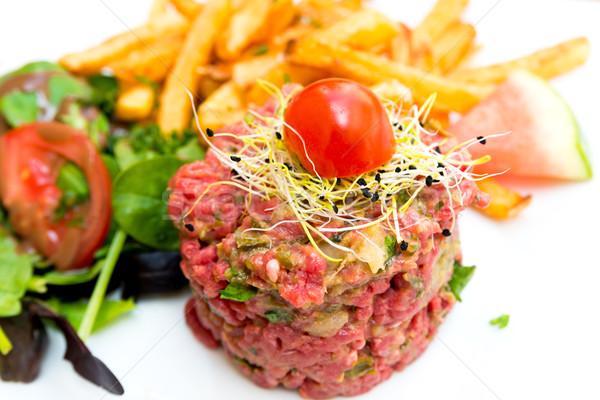 tasty tartare(Raw beef) Stock photo © ilolab