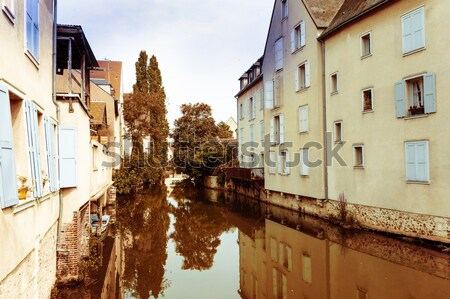 Antik falu Franciaország Európa égbolt ház Stock fotó © ilolab