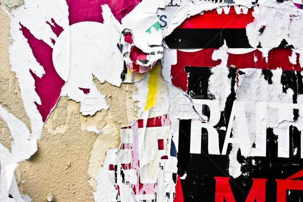 Сток-фото: старые · плакатов · Гранж · текстуры · фоны · стены