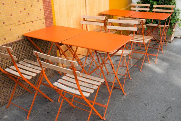 Café terrasse vide fête restaurant table Photo stock © ilolab