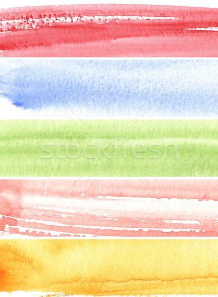 текстуры акварель Живопись грубо бумаги Сток-фото © ilolab