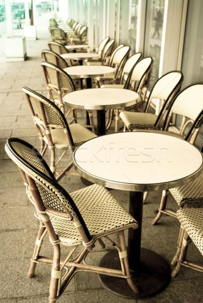 Stock photo: traditional Parisian coffee