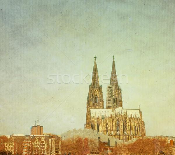 Retro gothic cattedrale Germania costruzione Foto d'archivio © ilolab