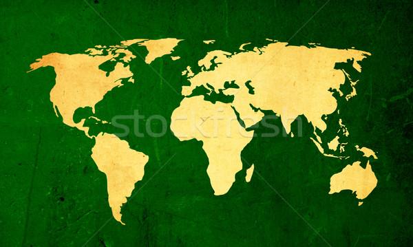 Kazıyın bağbozumu dünya haritası dokular arka doku Stok fotoğraf © ilolab
