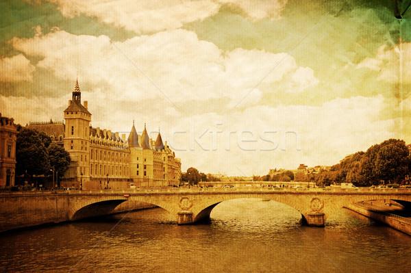 Сток-фото: красивой · парижский · улиц · город · фон · обои