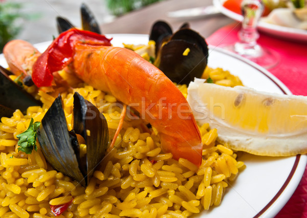traditionnal spanish food paella Stock photo © ilolab