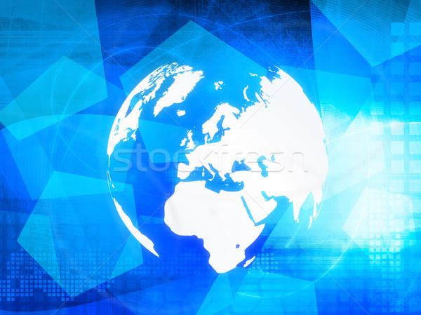 ストックフォト: ヨーロッパ · 地図 · 技術 · スタイル · ネットワーク
