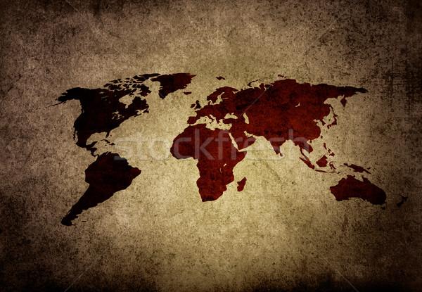 Stock photo: world map vintage