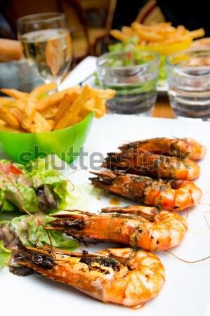 Cuisine table traditionnel cuisine française alimentaire sang Photo stock © ilolab