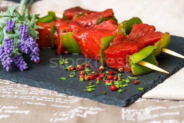Foto stock: Saboroso · carne · legumes · comida · prato · bife