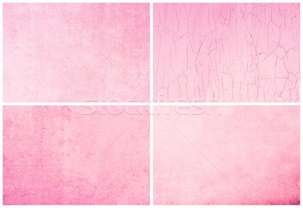 Meilleur ensemble papier texture mur design Photo stock © ilolab