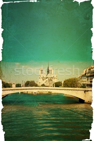 красивой парижский улиц Париж Франция пространстве Сток-фото © ilolab