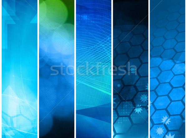 Abstrato galáxia perfeito espaço tecnologia fundo Foto stock © ilolab