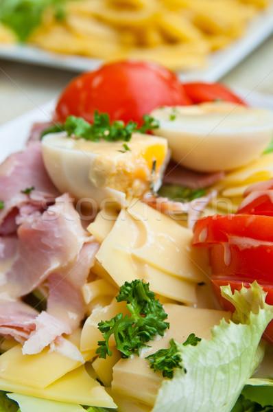 新鮮な サラダ トマト レタス 茄子 ストックフォト © ilolab