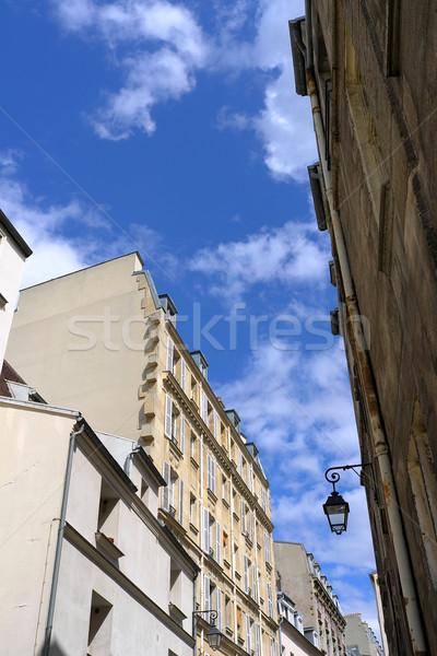 Gyönyörű párizsi Franciaország város háttér építészet Stock fotó © ilolab