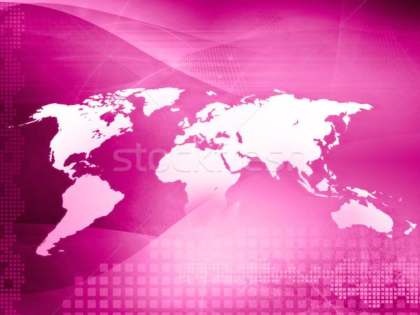 Dünya haritası teknoloji stil mükemmel uzay metin Stok fotoğraf © ilolab