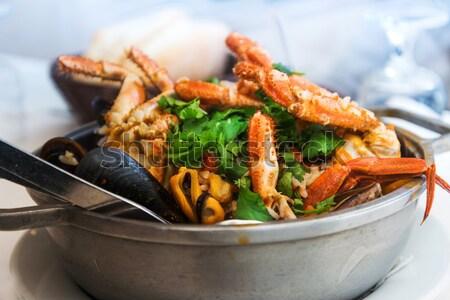 prawn with rice Stock photo © ilolab