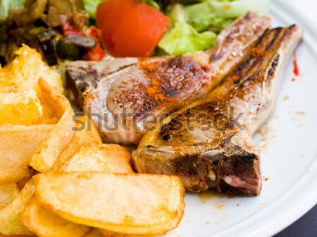 juicy stewed pork leg Stock photo © ilolab