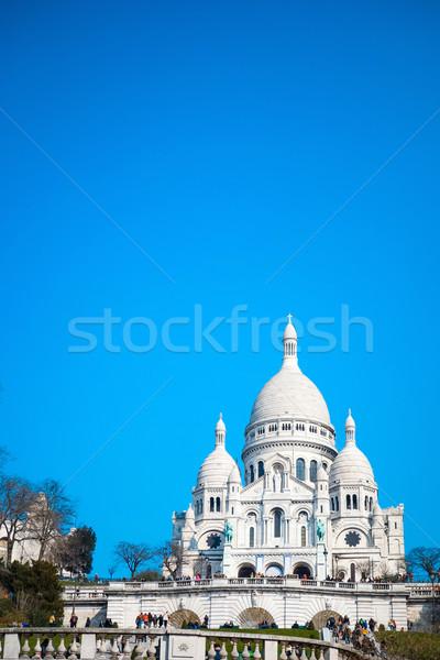 Kerk hart Blauw reizen aanbidden architectuur Stockfoto © ilolab