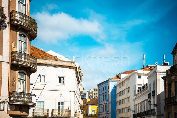 美しい ストリートビュー 歴史的 建築の リスボン ポルトガル ストックフォト © ilolab