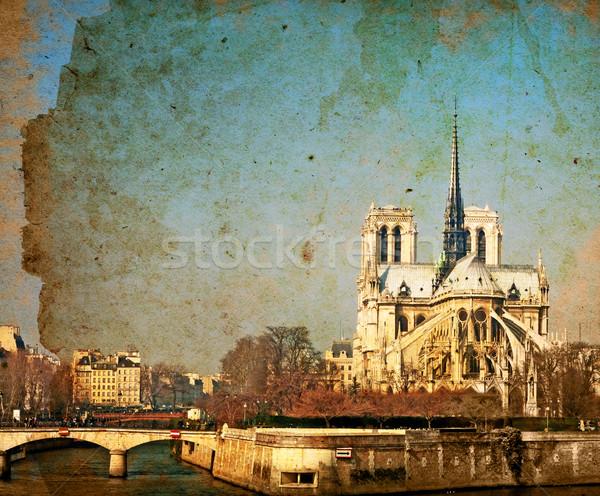 красивой парижский улиц книга лист фон Сток-фото © ilolab