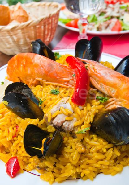 Crevettes riz alimentaire poissons Photo stock © ilolab