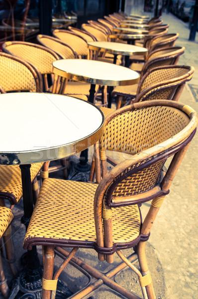 伝統的な パリジャン コーヒー ストリートビュー テラス パーティ ストックフォト © ilolab