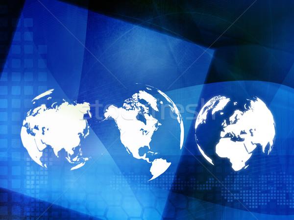 Mapie świata technologii stylu doskonały przestrzeni tekst Zdjęcia stock © ilolab