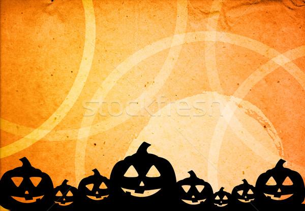 Halloween kabak arkadaşlar yüz soyut Stok fotoğraf © ilolab