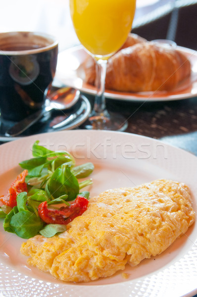 omelet with ham Stock photo © ilolab