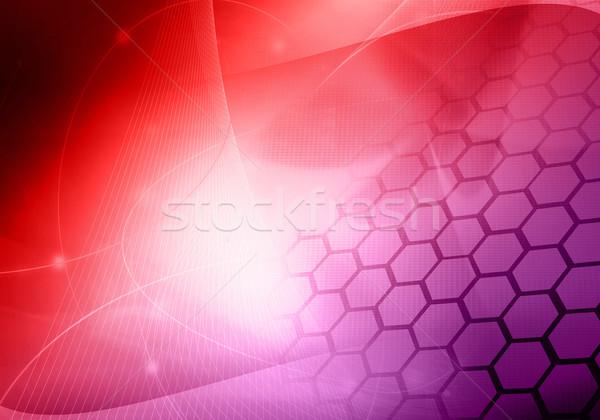 świetle streszczenie cool fale technologii płynnych Zdjęcia stock © ilolab