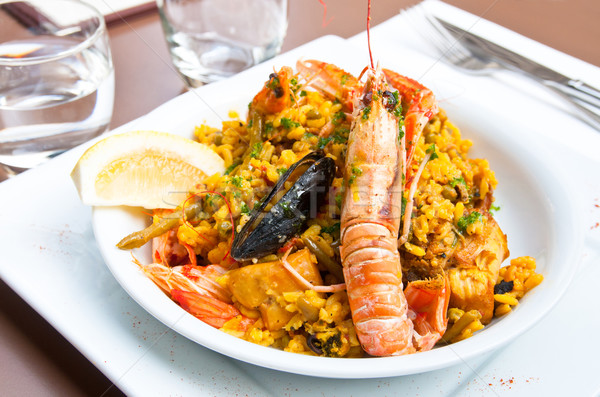 spanish food paella Stock photo © ilolab