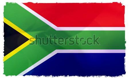 フラグ 南アフリカ 抽象的な にログイン 行 単純な ストックフォト © ilolab