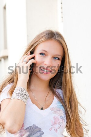 attractive woman outdoors portrait of thinking woman  Stock photo © ilolab