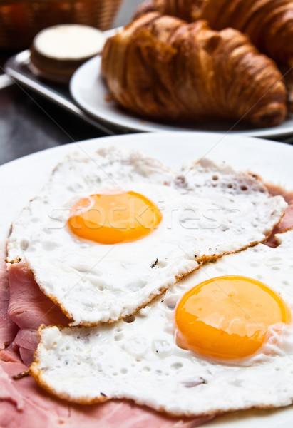 Preparato uovo sole alimentare piatto colazione Foto d'archivio © ilolab