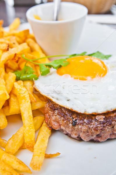 Stok fotoğraf: Klasik · İngilizce · kahvaltı · yumurta · patates · kızartması · restoran