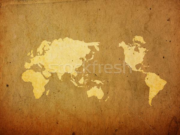 Dünya haritası bağbozumu mükemmel uzay metin Stok fotoğraf © ilolab