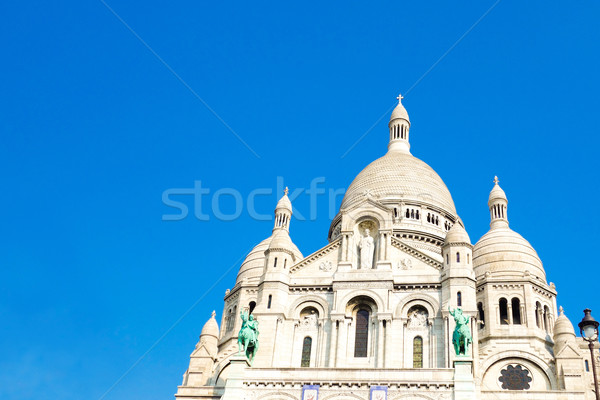 Templom Montmartre kék utazás istentisztelet Isten Stock fotó © ilolab