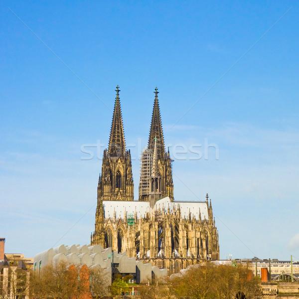 Gotischen Kathedrale Ansicht Deutschland Gebäude Stock foto © ilolab