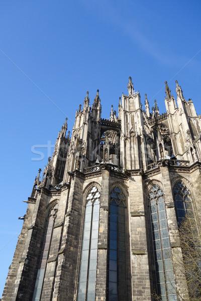 Gotischen Kathedrale Ansicht Gebäude Architektur Stock foto © ilolab